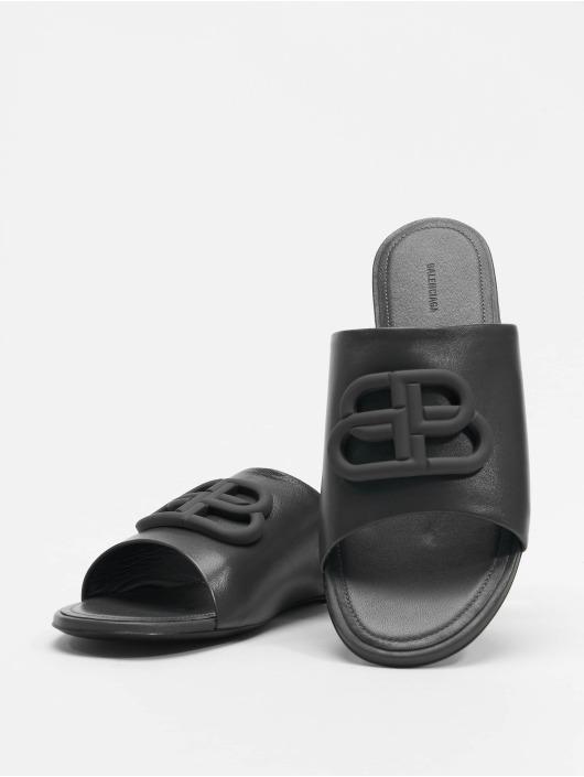 Balenciaga Claquettes & Sandales Oval Flat Black Logo noir