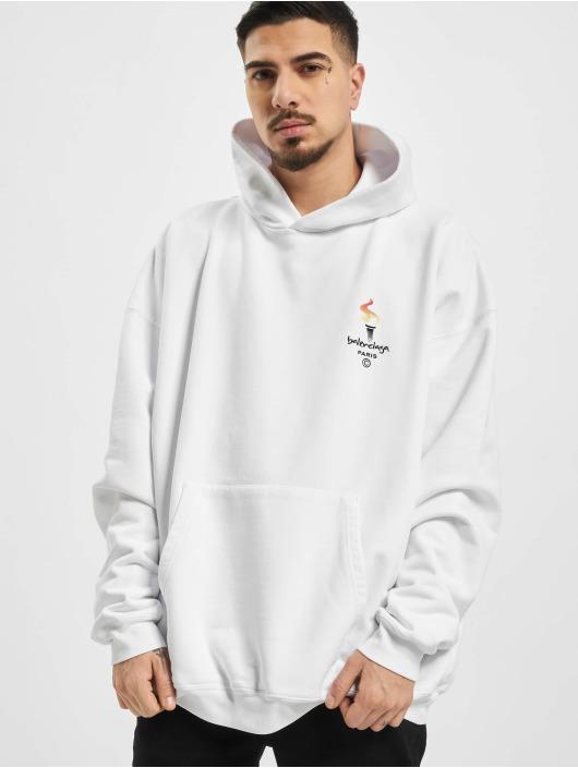 Balenciaga Hoodie Embroidered Logo Oversize white