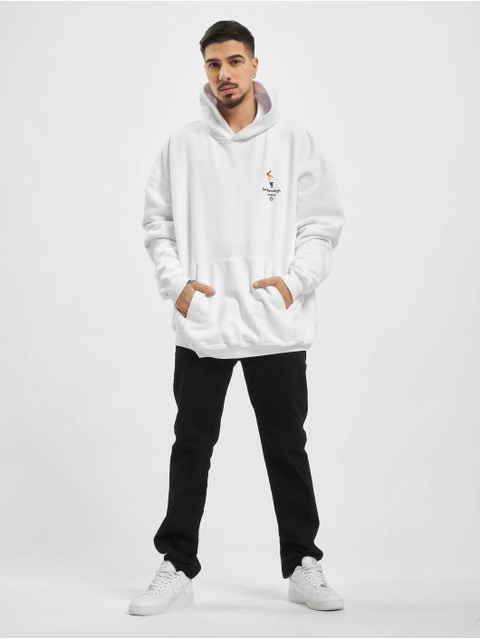 Balenciaga Hoodies Embroidered Logo Oversize bílý