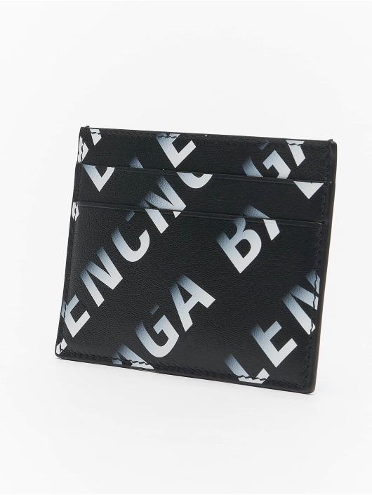 Balenciaga Plånbok All Over Logo svart