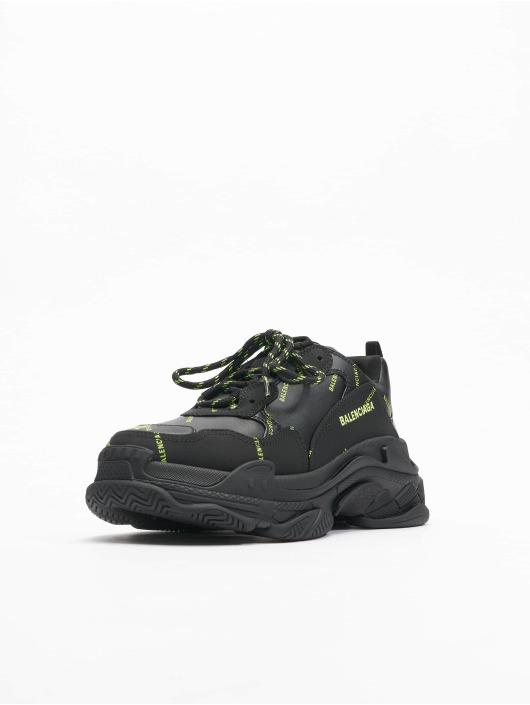 Balenciaga Sneakers Triple S Allover Logo èierna