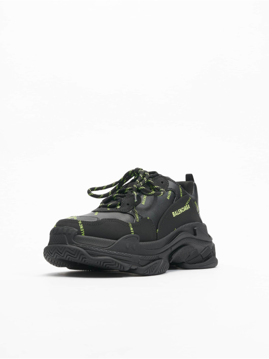 Balenciaga Sneakers Triple S Allover Logo black