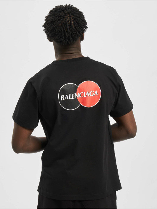 Balenciaga T-Shirt Corporate-Logo schwarz
