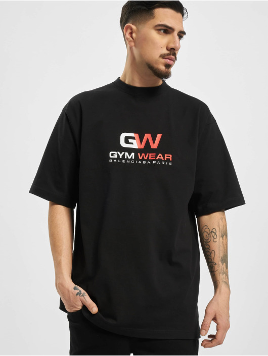 Balenciaga T-Shirt GYM WAER Oversize schwarz