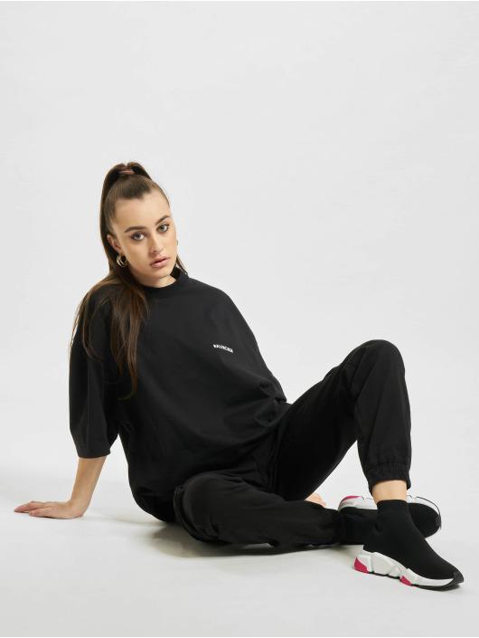 Balenciaga T-Shirt Extra Large Fit Defile Back Print schwarz