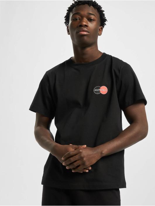 Balenciaga t-shirt Corporate-Logo zwart