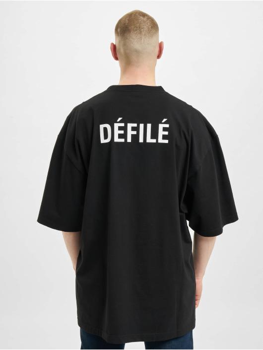 Balenciaga t-shirt Defile Back Logo zwart