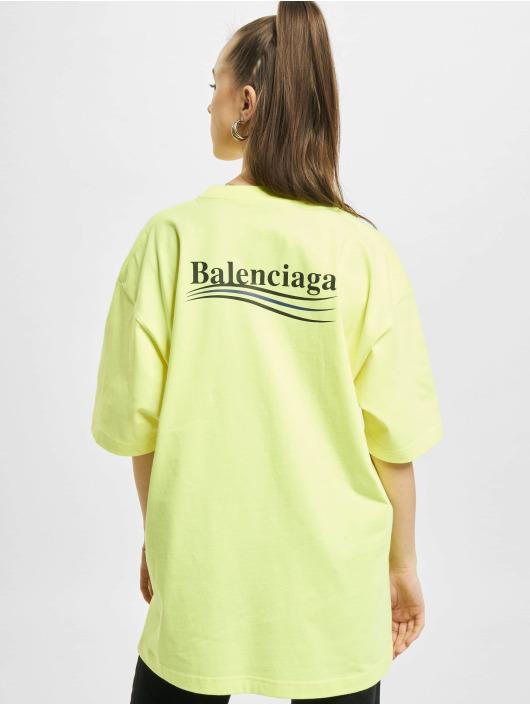 Balenciaga T-shirts Large Fit Politycal Logo gul