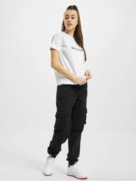 Balenciaga T-shirts Slim Fit Logo hvid