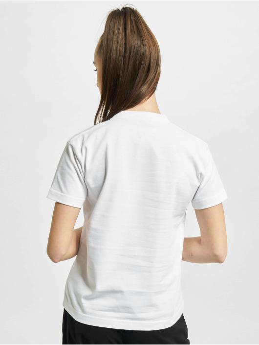 Balenciaga T-Shirty Slim Fit Logo bialy