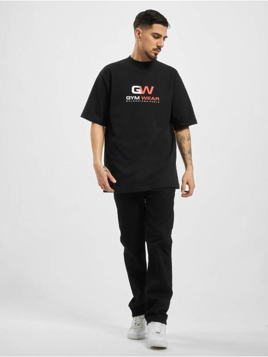 Balenciaga T-Shirty GYM WAER Oversize czarny