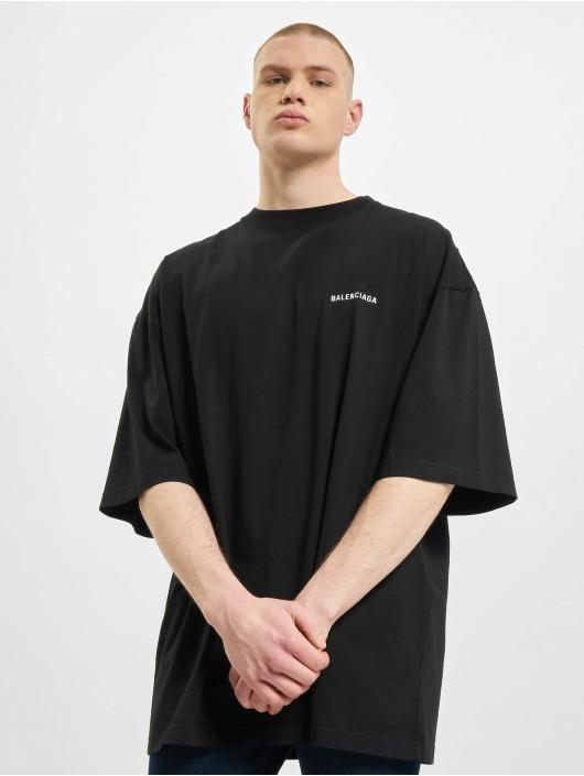 Balenciaga T-Shirty Defile Back Logo czarny