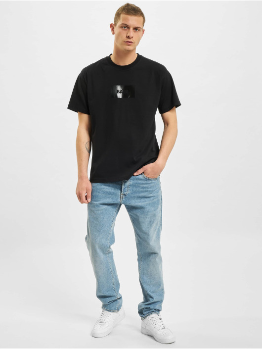 BALR Camiseta Satin Print Oversized Fit negro