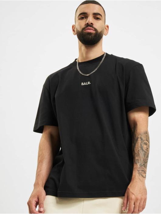 BALR Camiseta Crest Print Back Amsterdam Box Fit negro