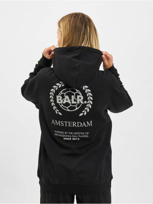 BALR Hoodies Crest Print Back Amsterdam Loose čern