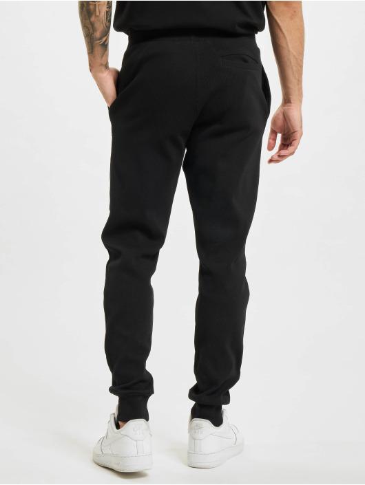 BALR Jogging kalhoty Loose Club Embro Waffle čern