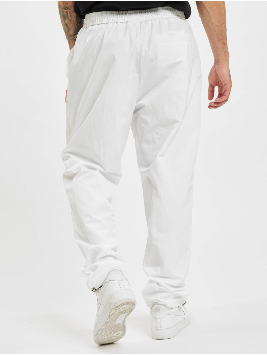 BALR Jogging kalhoty Rubber Badge Loose bílý