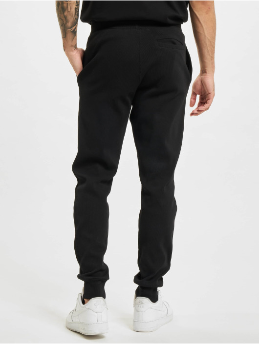 BALR Spodnie do joggingu Loose Club Embro Waffle czarny