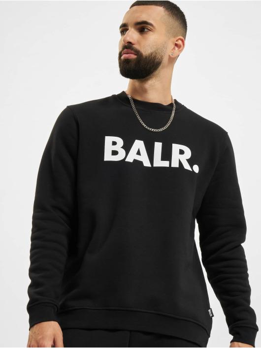 BALR Svetry Brand Straight Crew Neck čern