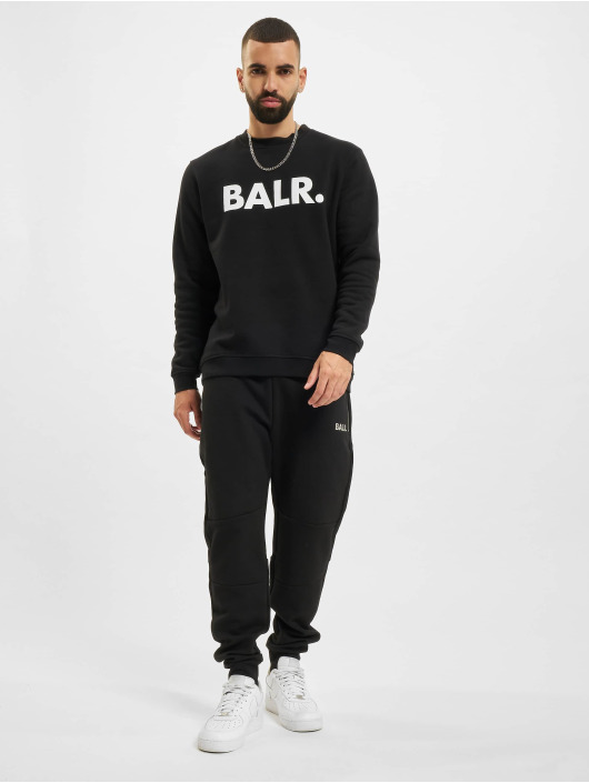 BALR Sweat & Pull Brand Straight Crew Neck noir
