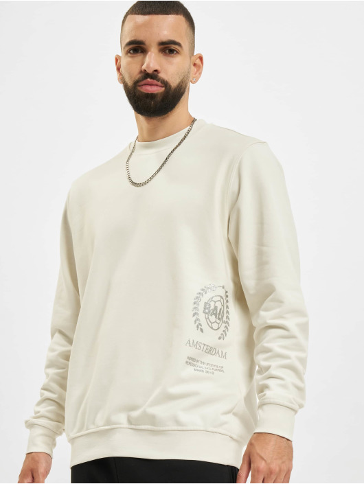 BALR Swetry Crest Print Amsterdam bialy