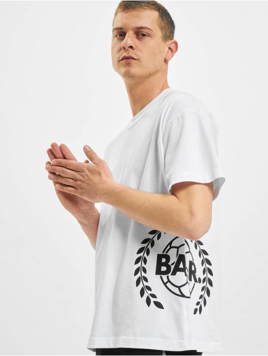 BALR T-Shirt Crest Print Oversized Fit blanc