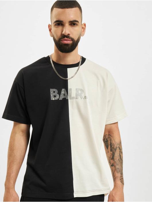 BALR T-Shirt Rhinestones Amsterdam Oversized Fit grey