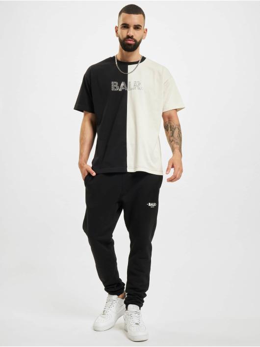 BALR T-shirt Rhinestones Amsterdam Oversized Fit grigio