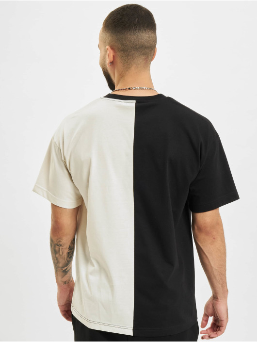 BALR T-Shirt Rhinestones Amsterdam Oversized Fit gris