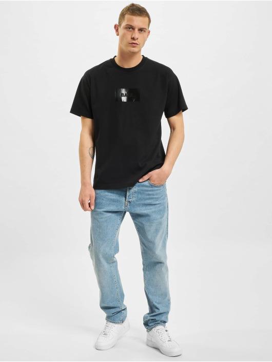 BALR T-Shirt Satin Print Oversized Fit noir