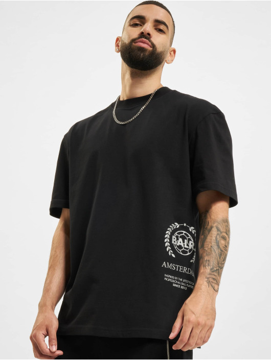 BALR T-Shirt Crest Print Amsterdam Box Fit noir
