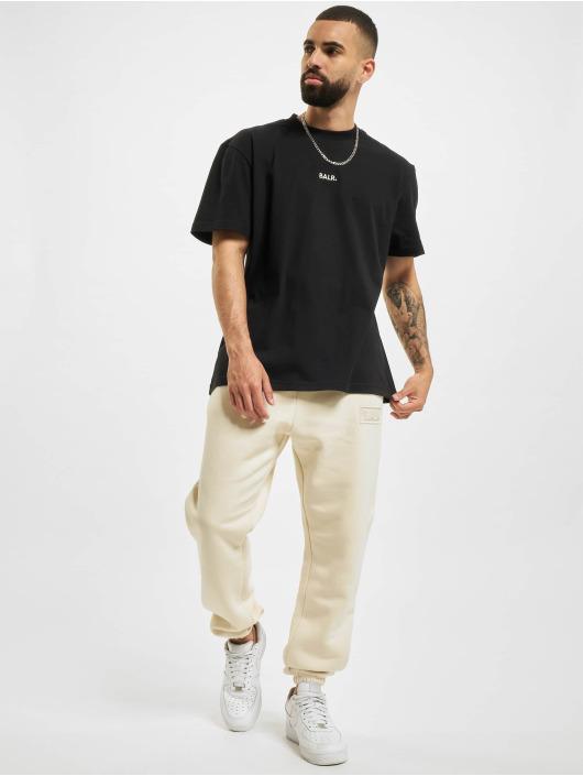 BALR T-Shirt Crest Print Back Amsterdam Box Fit schwarz