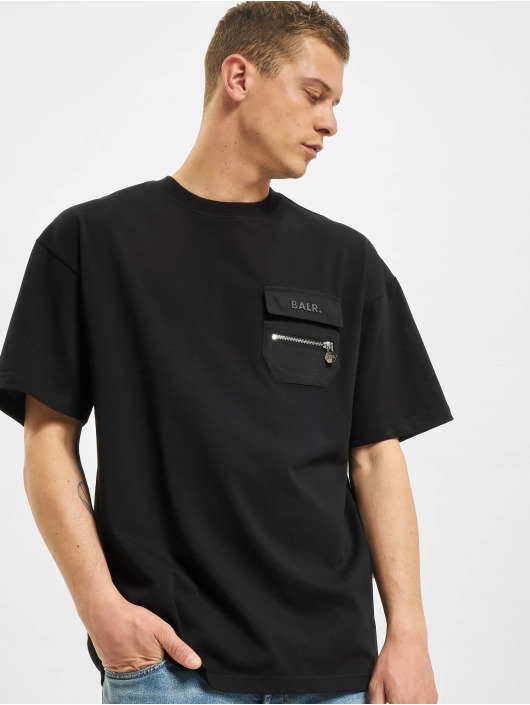 BALR T-shirt Cargo Dropped Shoulder svart