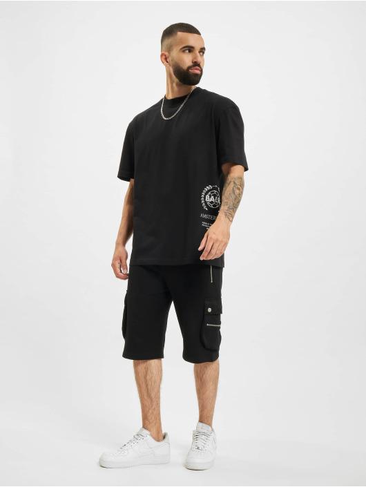 BALR T-shirt Crest Print Amsterdam Box Fit svart