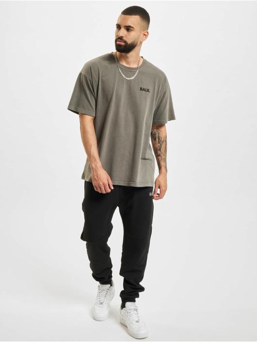 BALR t-shirt Back Circle Logo Oversized Fit zwart