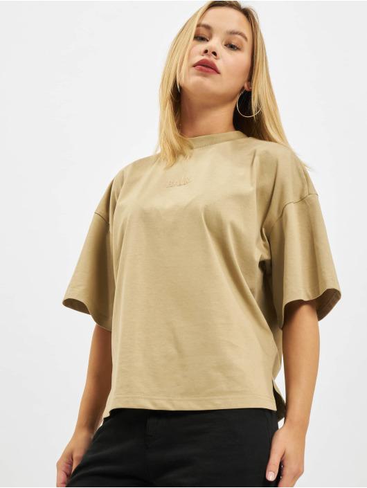 BALR T-shirts Ouvrages D'art Wide Croped beige