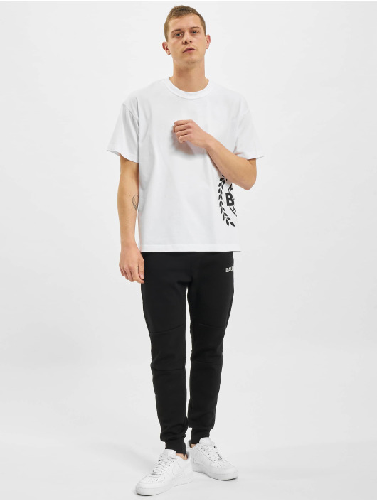 BALR T-Shirty Crest Print Oversized Fit bialy