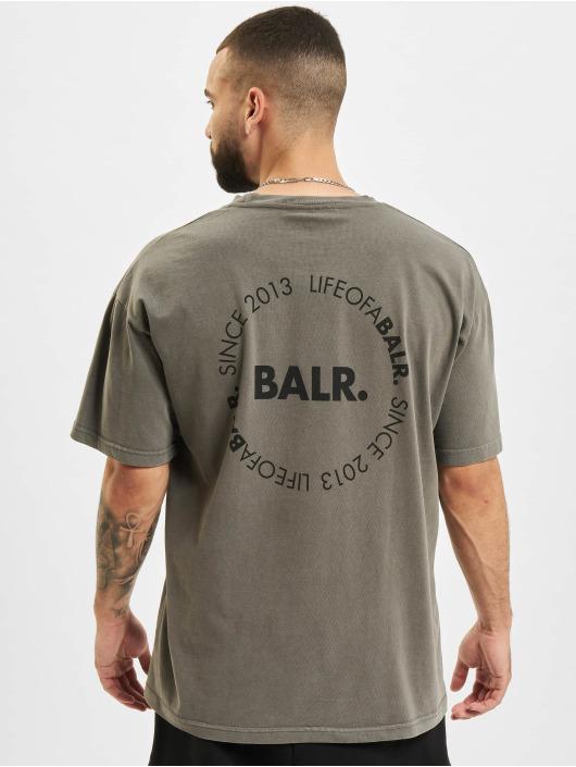 BALR T-Shirty Back Circle Logo Oversized Fit czarny