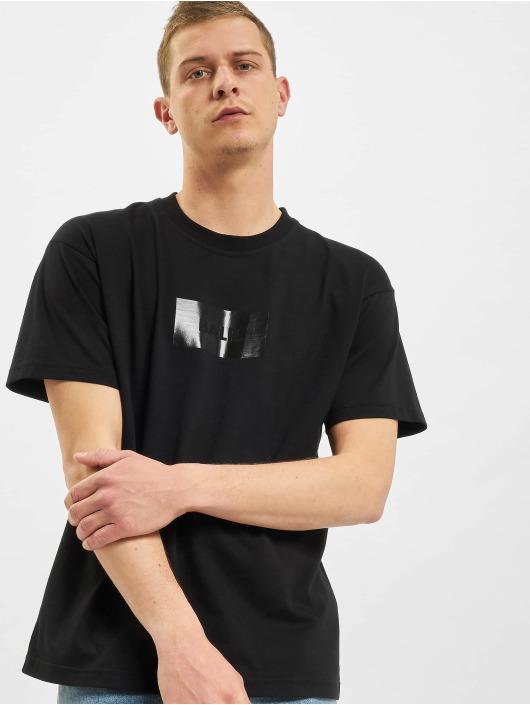 BALR Trika Satin Print Oversized Fit čern
