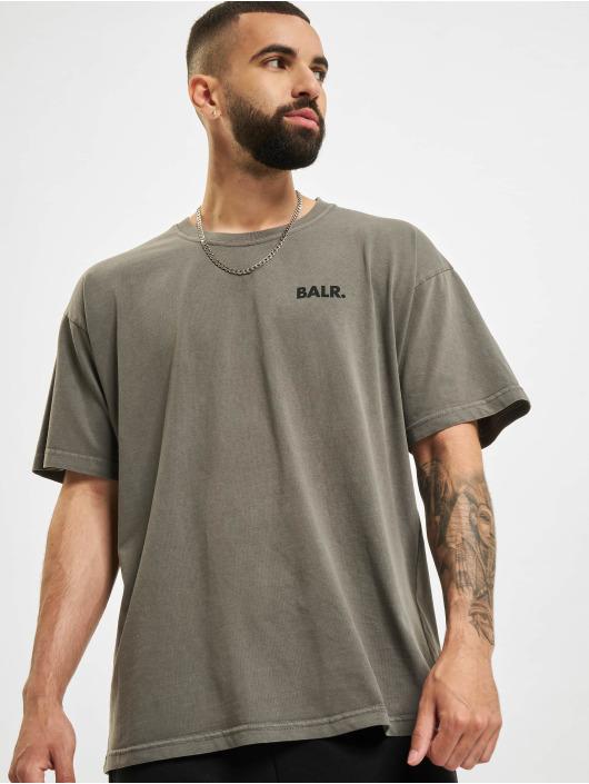BALR Trika Back Circle Logo Oversized Fit čern