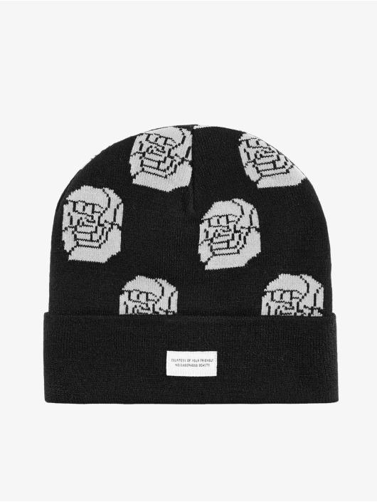 Beastin Beanie Black Roses schwarz