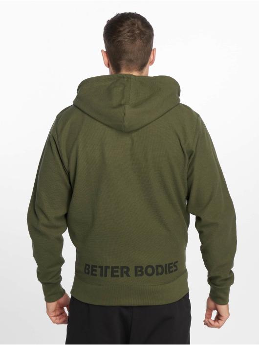 Better Bodies Zip Hoodie Stanton khaki