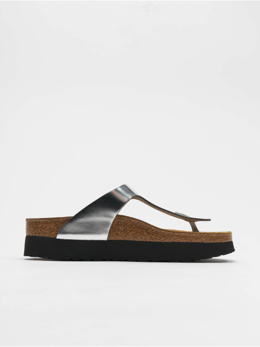Birkenstock Badesko/sandaler Gizeh Platform NL sølv