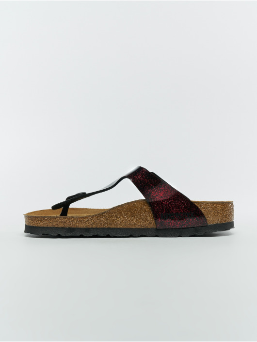 Birkenstock Claquettes & Sandales Gizeh SFB BF rouge