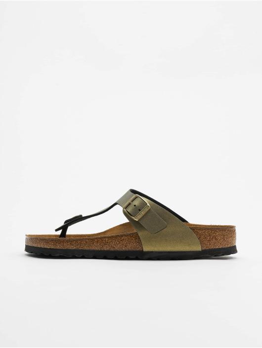 Birkenstock Gizeh BF Sandals Icy Metallic Stone Golden