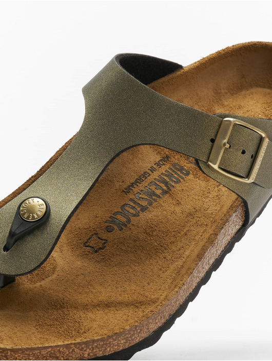 Birkenstock Sandals Gizeh BF gold colored