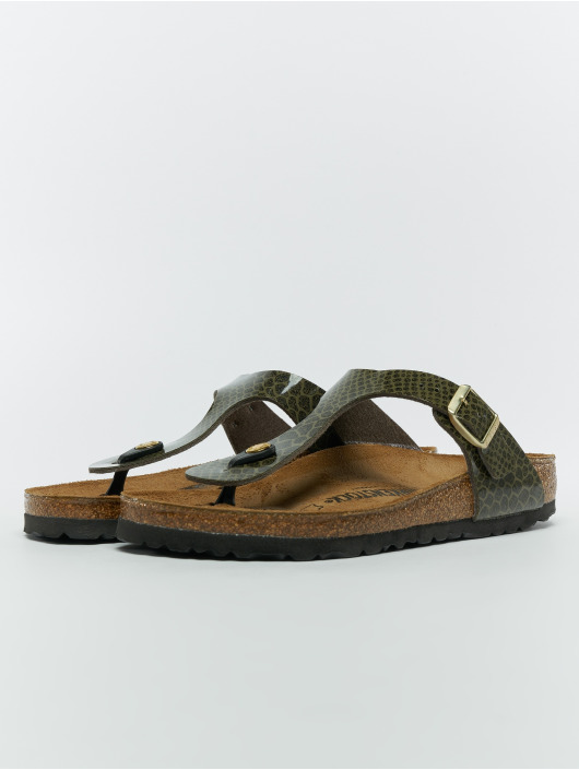 Birkenstock Slipper/Sandaal Gizeh BF khaki