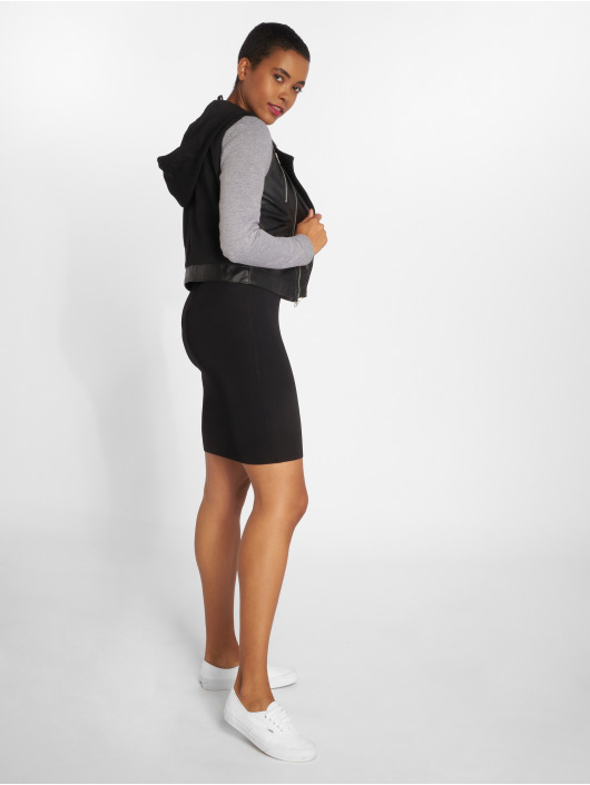 Bisous Project Kleid Ripp schwarz
