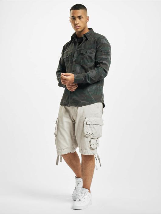 Brandit Рубашка Slim камуфляж