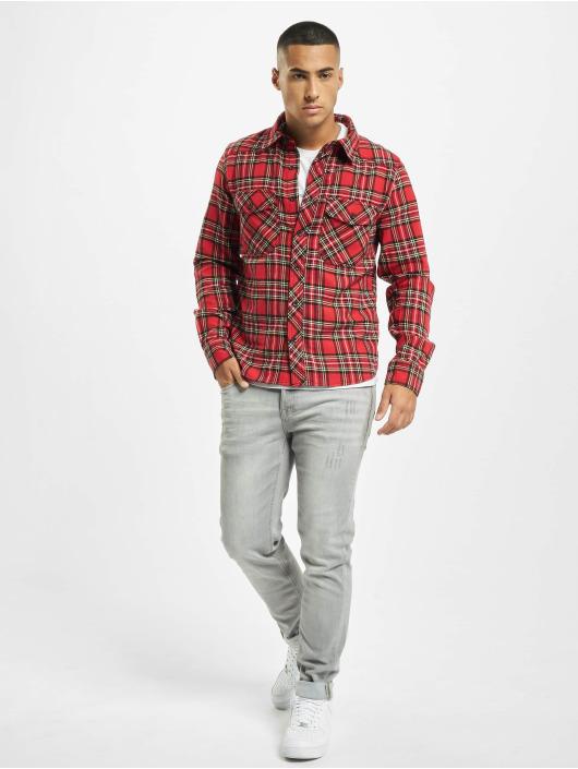 Brandit Рубашка Check красный